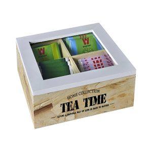 מארז עץ לתה קטן