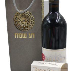 מארז יין ושוקולד